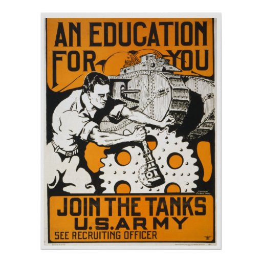 An Education For You ~ Join The Tanks Poster | Zazzle