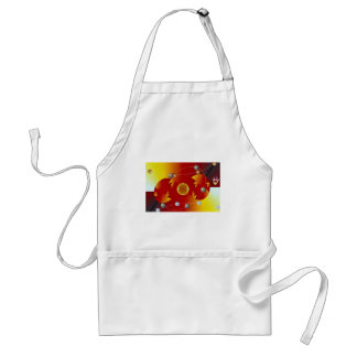 An egg and a meteor dimension apron