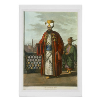 An Egyptian Bey, plate 41 from 'Views in Egypt', e Poster