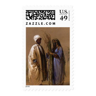 An Egyptian Man and His Wife Postage Stamp