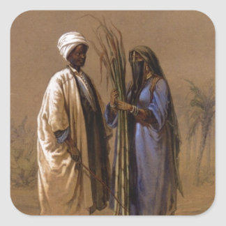 An Egyptian Man and His Wife Square Sticker