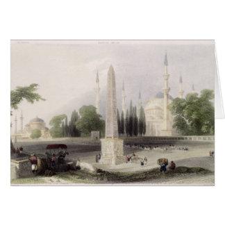 An Egyptian obelisk in the Atmeidan, or Hippodrome Card