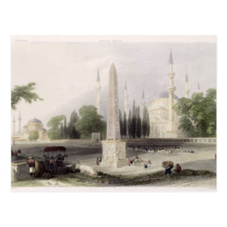 An Egyptian obelisk in the Atmeidan, or Hippodrome Postcard