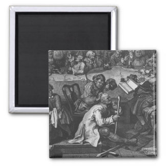 An Election Entertainment, 1755 2 Inch Square Magnet