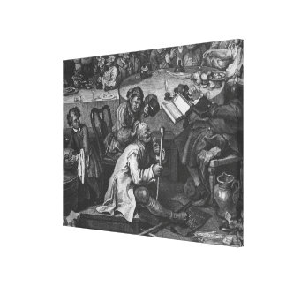 An Election Entertainment 1755 Stretched Canvas Print