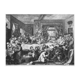 An Election Entertainment, 1755 Canvas Print