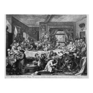 An Election Entertainment, 1755 Postcard