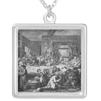 An Election Entertainment, 1755 Silver Plated Necklace