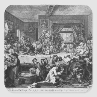 An Election Entertainment, 1755 Square Sticker