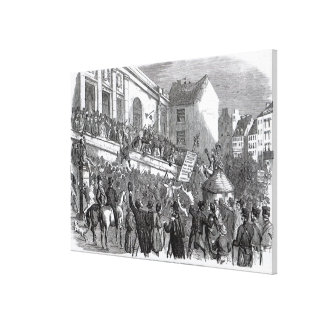 An Election Scene at Kilkenny Canvas Print