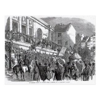 An Election Scene at Kilkenny Postcard