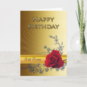 Elegant Birthday Cards Zazzle