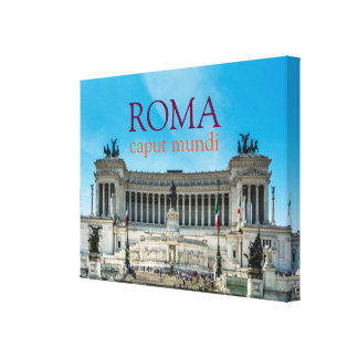 An elegant canvas with a iconic view of Rome