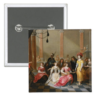 An Elegant Company at Music Before a Banquet Pin