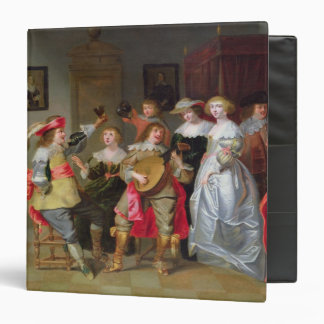An Elegant Company Merry-making in an interior Binders