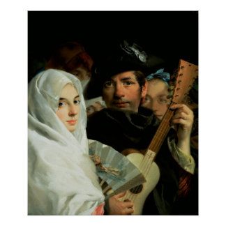 An Elegant Couple from Madrid, c.1770 Poster