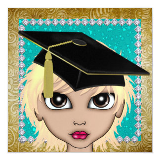 An Elegant Diva Graduation - SRF Invitation