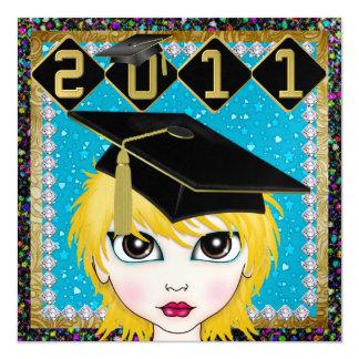 An Elegant Diva Graduation - SRF Custom Invitation