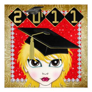 An Elegant Diva Graduation - SRF Invitations