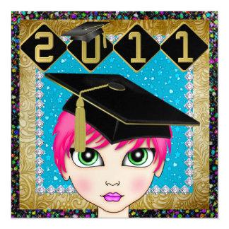 An Elegant Diva Graduation - SRF Custom Invite