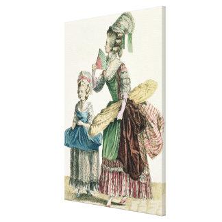 An Elegant Dressmaker Delivering her Work, plate f Canvas Prints
