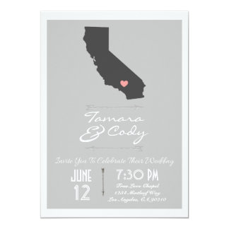 An Elegant Gray California Wedding Invitation
