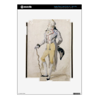 An Elegant Male Figure, 1793 (pencil and w/c on pa iPad 3 Decals
