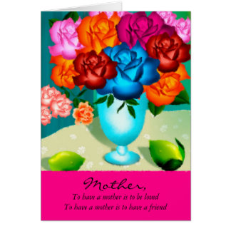 An Elegant Mothers Day Card With Painted Flowers