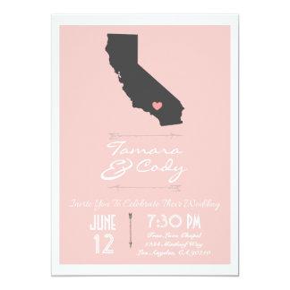An Elegant Petal California Wedding Invitation
