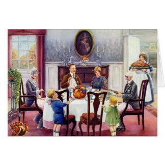 An Elegant Vintage Thanksgiving Card
