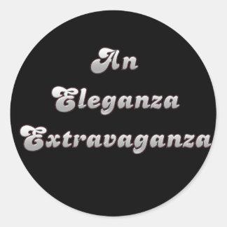 An Eleganza Extravaganza Classic Round Sticker