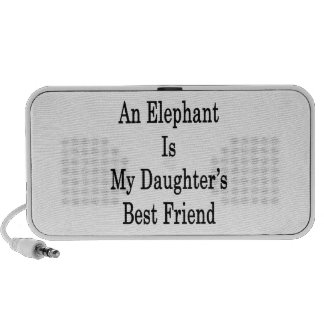 An Elephant Is My Daughter's Best Friend Portable Speaker