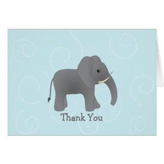 An Elephant Never Forgets. Greeting Card