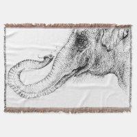 An elephant's faithful 100% by Inkspot Throw