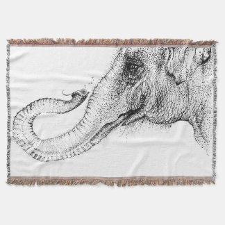 An elephant's faithful 100% by Inkspot Throw Blanket