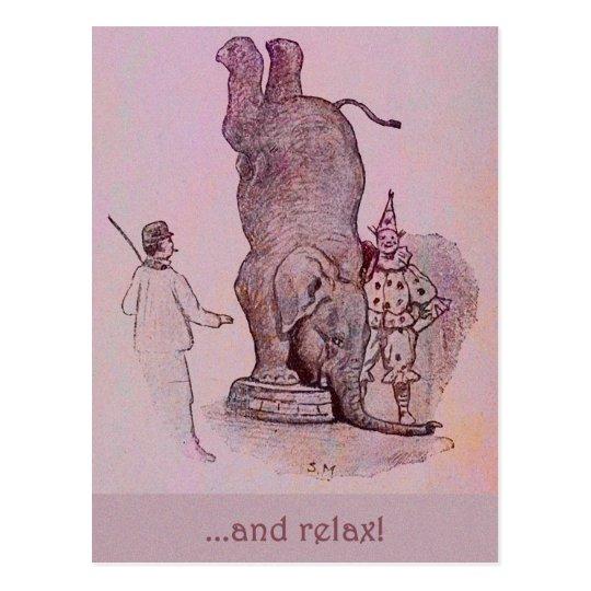 An Elephant's Work Postcard