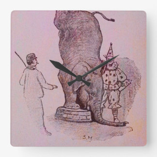 An Elephant's Work Square Wall Clock