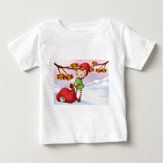 An elf holding a bag of gifts baby T-Shirt