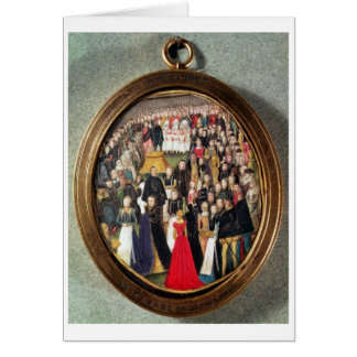 An Elizabethan Maundy Ceremony, c.1560 (w/c on vel Card