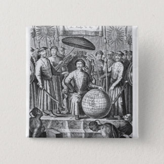 An Embassy from the East-India Button