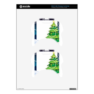 An empty christmas template with a christmas tree xbox 360 controller skins