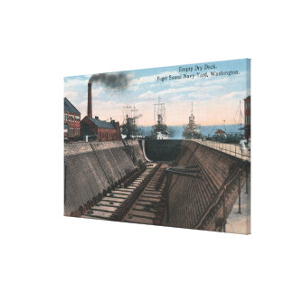An Empty Dry Dock, Navy Shipyard Canvas Print