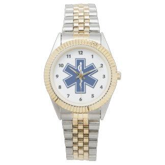 An EMS Star of Life Wrist Watch
