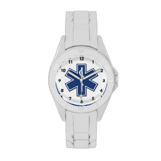 An EMS Star of Life Wrist Watches