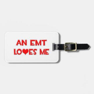 An EMT Loves Me Bag Tag