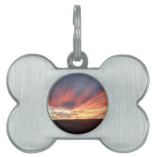 An Enchanting Sunset Pet Name Tag
