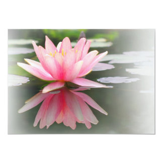 An Enchanting Water Lily in a Pond 5x7 Paper Invitation Card