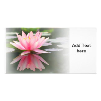 An Enchanting Water Lily in a Pond Personalized Photo Card