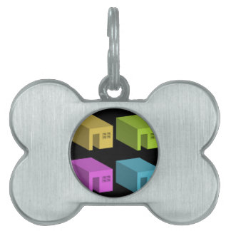 An enclosed space with openings pet name tag