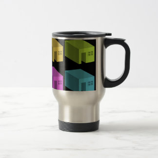 An enclosed space with openings travel mug